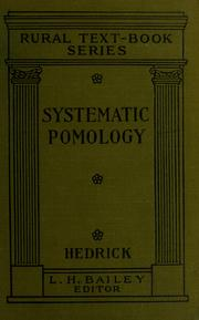 Cover of: Systematic pomology