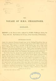 Cover of: Report on the Phyllocarida collected by H. M. S. Challenger during the years 1873-76