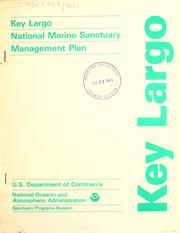 Cover of: Key Largo national marine sanctuary management plan. |