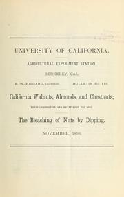Cover of: California walnuts, almonds, and chestnuts