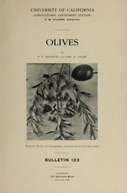 Cover of: Olives