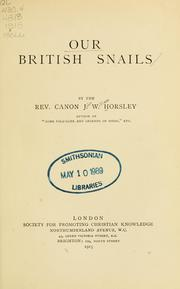 Cover of: Our British snails