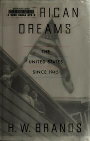 Cover of: American dreams | Henry William Brands