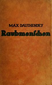 Cover of: Raubmenschen