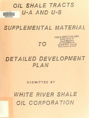 Cover of: Oil shale tracts U-a and U-b
