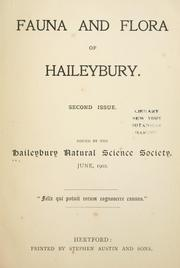 Cover of: Fauna and flora of Haileybury