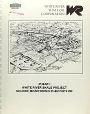 Cover of: Phase I White River Shale Project