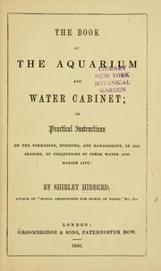 Cover of: The book of the aquarium and water cabinet