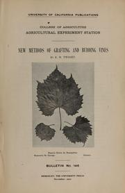 Cover of: New methods of grafting and budding vines
