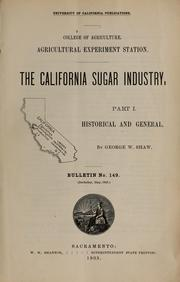Cover of: The California sugar industry