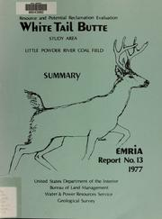 Cover of: White Tail Butte study area