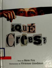 Cover of: Qué Crees?