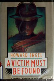 Cover of: A victim must be found