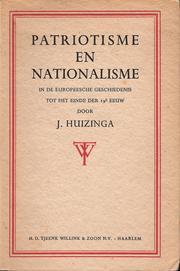 Patriotisme En Nationalisme In De Europeesche Geschiedenis