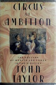 Cover of: Circus of ambition
