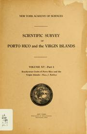 Cover of: Brachyuran crabs of Porto Rico and the Virgin Islands