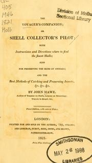 Cover of: The voyager's companion, or shell collector's pilot | John Mawe
