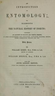 Cover of: An introduction to entomology