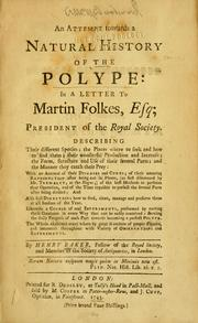 Cover of: An attempt towards a natural history of the polype