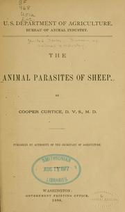 Cover of: The animal parasites of sheep. | United States. Bureau of Animal Industry.