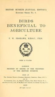 Cover of: ... Birds beneficial to agriculture