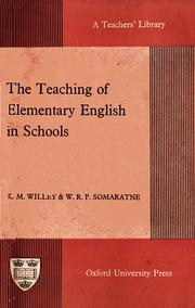 Cover of: The Teaching of Elementary English in Schools