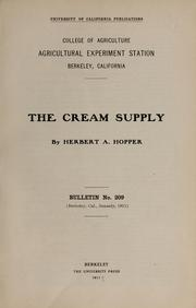 Cover of: The cream supply