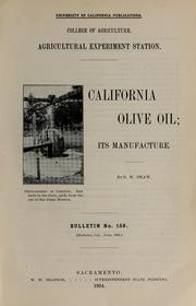 Cover of: California olive oil
