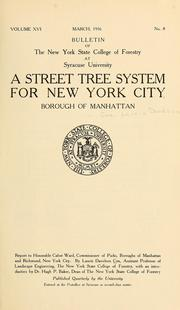 Cover of: A street tree system for New York City, Borough of Manhattan