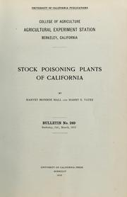 Cover of: Stock poisoning plants of California