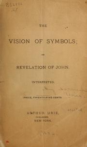 Cover of: The vision of symbols