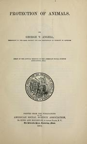 Cover of: Protection of animals