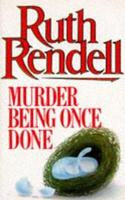 Cover of: Murder being once done