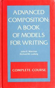 Cover of: Advanced composition | John E. Warriner