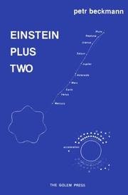 Cover of: Einstein plus two