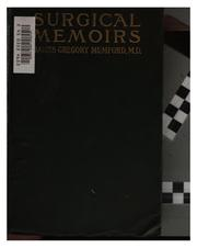 Cover of: Surgical memoirs | Mumford, James Gregory