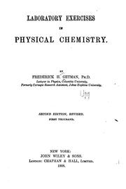 Cover of: Laboratory Exercises in Physical Chemistry |