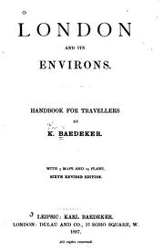 Cover of: London and Its Environs: Handbook for Travellers by Karl Baedeker (Firm)