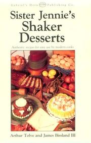 Cover of: Sister Jennie's Shaker desserts