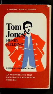 Cover of: The History of Tom Jones, a Foundling