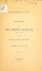 Cover of: Independence of Cuba | Joseph Lafayette Rawlins