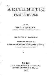 Cover of: Arithmetic for Schools: American Ed | John Bascombe Lock