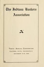 Cover of: Proceedings of the ... annual convention | Indiana Bankers Association.