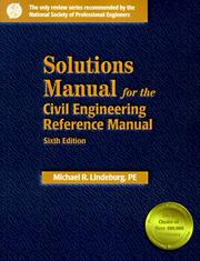 Cover of: Solutions Manual for the Civil Engineering Reference Manual