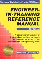 Cover of: Engineer-in-training reference manual