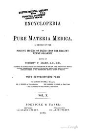 Cover of: The encyclopedia of pure materia medica | Timothy Field Allen