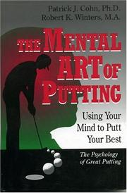 Cover of: The Mental Art of Putting