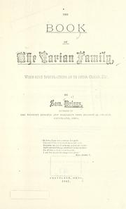 Cover of: Book of the Varian family, with some speculation as to their origin | Samuel Briggs