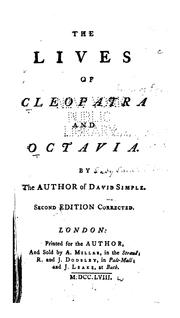 Cover of: The Lives of Cleopatra and Octavia by Sarah Fielding