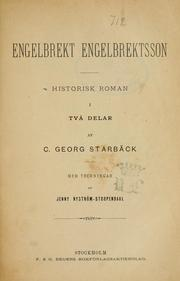 Cover of: Engelbrekt Engelbrektsson | Carl Georg Starbäck